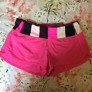 "lululemon athletica Shorts - rare LULULEMON run speed shorts 2.5"" pink 6"